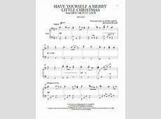 Have Yourself A Merry Little Christmas Sheet Music Free-Merry Christmas Piano Sheet