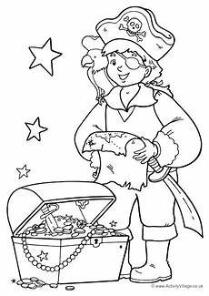 pirate colouring page 1