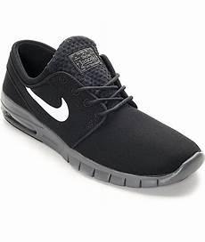 nike sb stefan janoski max black white grey shoes