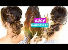 3 easy back to school hair goals cute 5 minute hairstyles makeupwearables l video