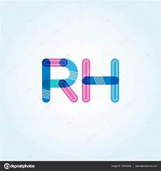 logotipo de rh conectado letras vetores de stock