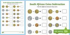 money worksheets for grade 2 south africa 2643 south coins subtraction worksheet made