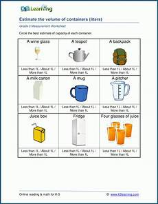 liquid measurement worksheets grade 3 1675 grade 3 measurement worksheets metric units of capacity volume k5 learning