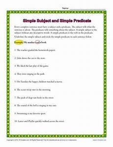 worksheets about simple subject and predicate simple subject and simple predicate 3rd grade worksheets