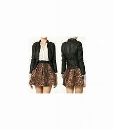 jupe taille elastique imprim 233 l 233 opard jupe taille 233 lastique size xs
