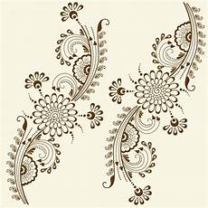vector illustration of mehndi ornament traditional style ornamental floral elements for