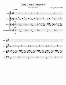 once upon a december sheet music for violin cello