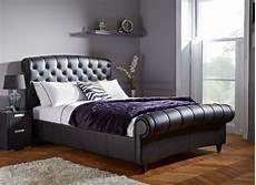 ellis black split leather bed frame dreams