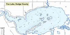 c dodge map fish fox lake dodge county wisconsin