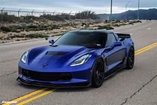 chevrolet corvette c7 z06 admiral blue chevrolet c7 z06 corvette forgestar cf5v wheels