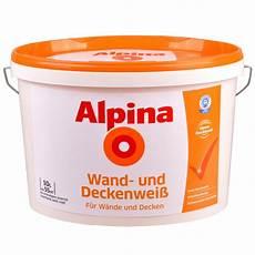 wandfarbe weiss alpina wandfarbe wei 223 10 liter wand und deckenwei 223