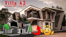 2 Floors Modern Villa Tutorial With Sketchup 2017 Vray 3