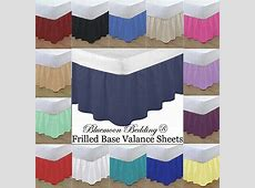 Plain Cotton Blend Fitted Frilled Base Valance Bed Sheets