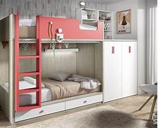 lit superpos 233 enfant avec armoire et bureau amovible