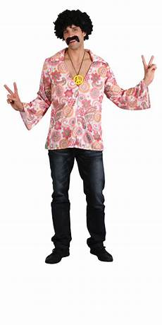 Retro Hippy Groovy Style Flower Power Shirt With Peace