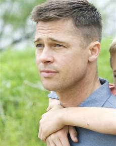 the tree of life brad pitt short buzzed hairstyle haircuts for men army haircut older women