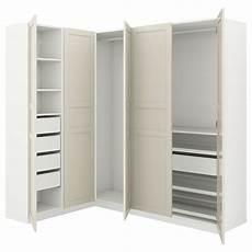 pax armoire d angle blanc flisberget beige clair ikea