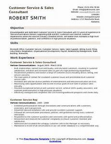 customer service sales consultant resume sles qwikresume