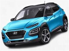 Hyundai Kona 2018 3d Model Cgstudio