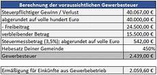 gewerbesteuer in e 220 r und einkommensteuer erkl 228 rung excel