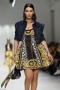 hadid at versace fashion show at milan fashion week hawtcelebs