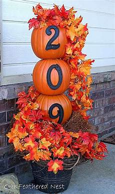 Decorations Outdoor Diy by 21 Diy Fall Door Decorations Diy Ready