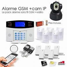 alarme sans fil avec alarme gsm 99 zones et ip toutes les alarmes