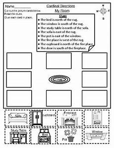 worksheets on directions for grade 4 11747 geography map skill cardinal directions cut paste activity worksheets