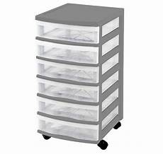 Clear Storage Drawers by Clear Floor Storage 6 Drawers W Wheels Assorted