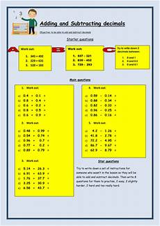 subtraction worksheets eyfs tes 10064 adding and subtracting decimals worksheet by bcooper87 teaching resources tes