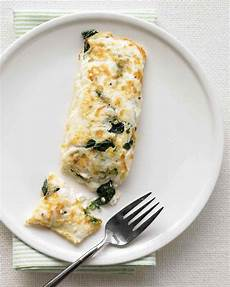 healthy snacks with cottage cheese egg white omelet with spinach and cottage cheese recipe