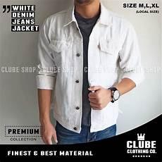 jual jaket cowok warna putih jaket levis pria putih jaket denim di lapak bstore masp store