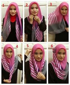 Cara Memakai Kerudung Segitiga Simple Modis Model Jilbab