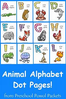 animal letter worksheets 13939 free a z animal alphabet dot pages collection preschool powol packets
