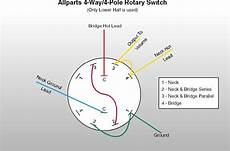 guitar rotary switch wiring diagram fender electric xii replica pickguardian