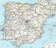 large detailed road map of spain and portugal travelinter travel map of spain map
