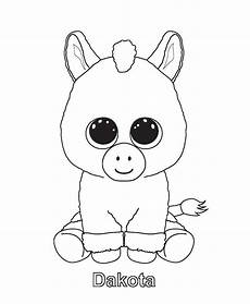 Ausmalbilder Einhorn Glubschi Ty Beanie Boo Coloring Pages And Print For Free