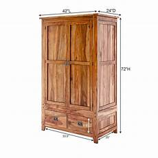 Delaware Solid Hardwood Rustic Bedroom Wardrobe Armoire