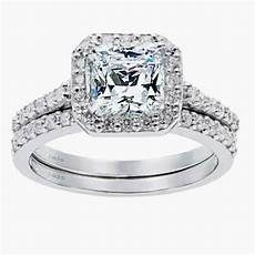 women s 1 8 ctw princess cut 925 sterling silver cz wedding engagement ring set ebay