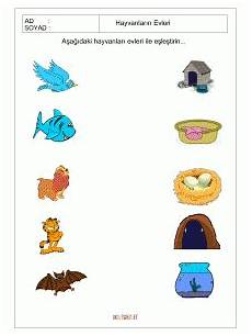 free printable matching animals to their home worksheet 1 toddler learning activities