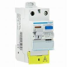 interrupteur diff 233 rentiel 63a 30ma type ac hager cdc764f