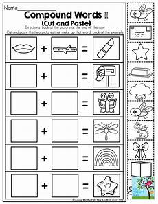 compound words such a fun activity for kindergarten kindergarten compound words