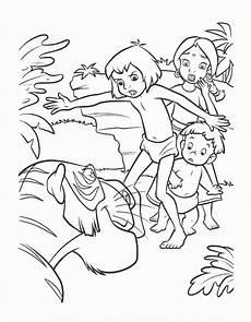 das dschungelbuch 12 ausmalbilder malvorlagen