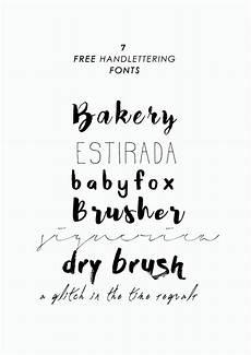 7 kostenlose handgeschriebene schriftarten free