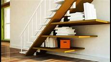 möbel unter offener treppe simple ideas for bookshelf stairs