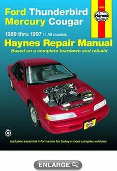 car repair manuals online free 1989 mercury cougar electronic toll collection ford thunderbird mercury cougar haynes repair manual 1989 1997 hay36086