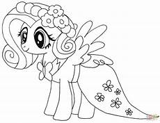 my pony fluttershy coloring page free printable
