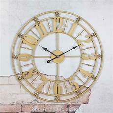 large iron metal wall clock provincial 76 cm
