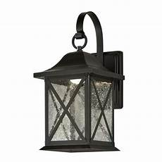 allen roth 8 9 in h black dark sky led outdoor wall light at lowes com