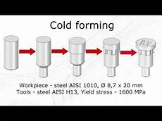 cold forming cold forming simulation in qform youtube